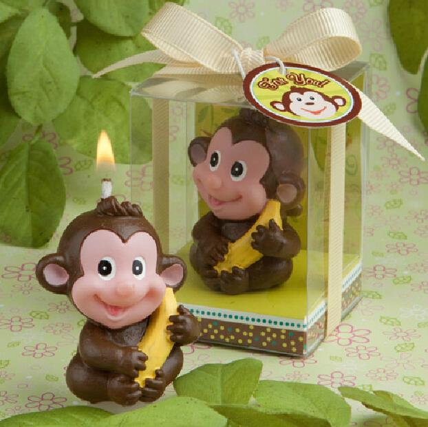 Creative Smokeless Monkey Candle Baby Shower Baptism Party Favor
