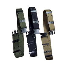 Buy Unisex Thicken Belt Nylon Belt Metal Buckle Adjustable 135 to 175cm Belt Outdoor Sports Climbing Rescue Dropping Accessories directly from merchant!