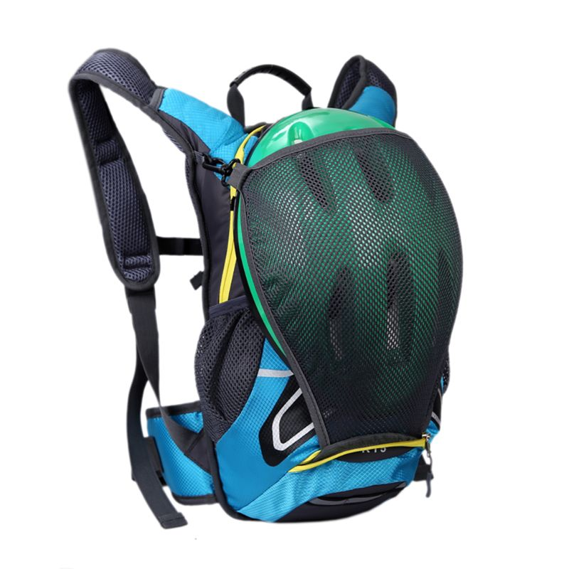 15l Radfahren Rucksack Mit Helm Halter Leichte Ski Rucksack Kleine Bike Rucksäcke Für Outdoor Wandern Camping Reisetaschen