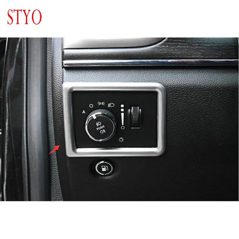 STYO ABS Front Headlight Switch Frame Trim Cover For LHD