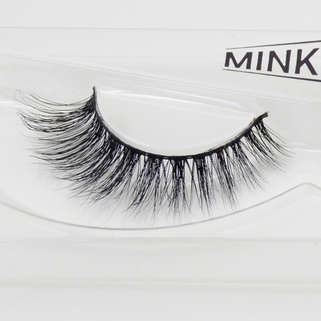 US $2 3 40% OFF|visofree 1 pair MYKONOS mink lashes wholesale 100% real  mink fur Handmade crossing lashes individual strip thick lash 01-in False
