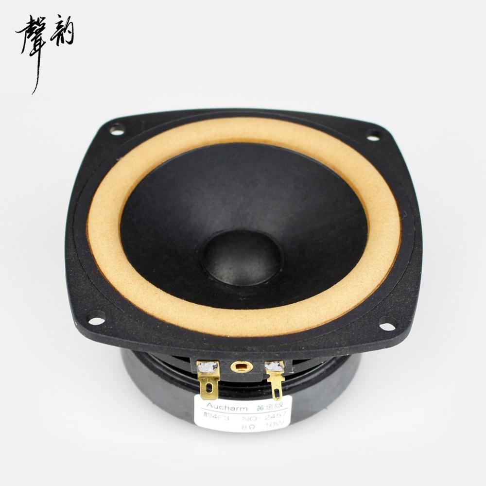 цены 2018 New Aucharm 4F-3 4inch Full Range Speaker Driver Unit Leather Surround Casting Aluminum Basket 8ohm 10W Square Frame