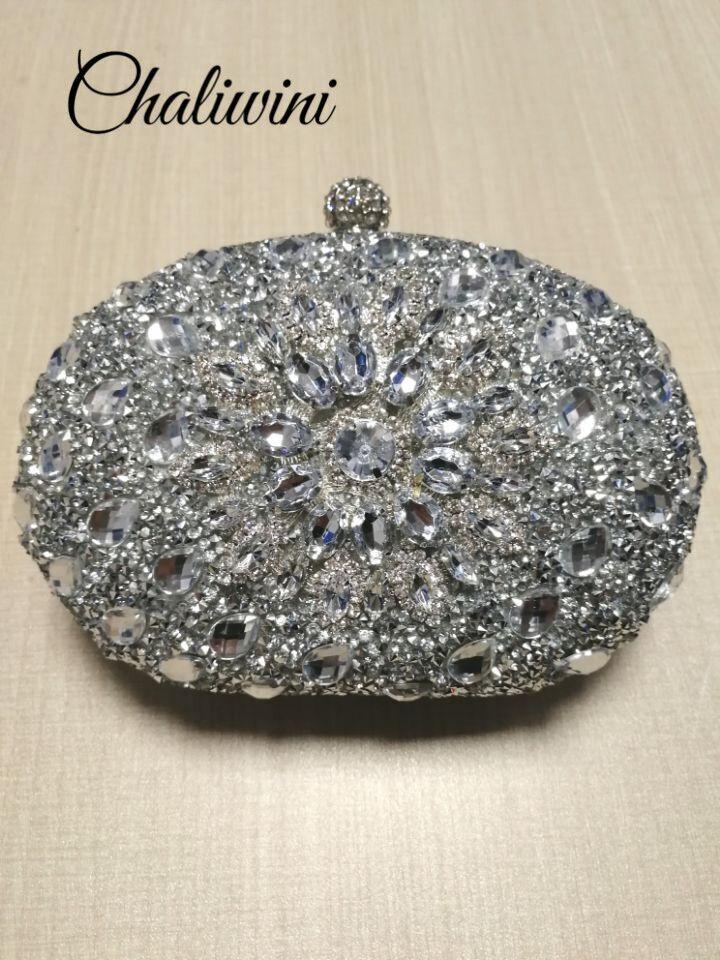 Purse Handbags Clutch-Bag Package Wallet Sling Cell-Phone-Pocket Woman Bag Crystal Floral