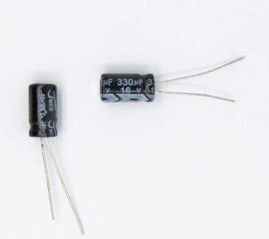 Pces v Alumínio Capacitor Eletrolítico – Tamanho 6*12mm 50 330 uf 16