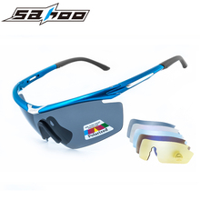 SAHOO Cycling Glasses Polarized Sunglasses Outdoor Sports Eye Protect Cycling Eyewear Bicycle Bike Glasses Gafas Ciclismo 5 Lens