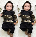 Winter Newborn Baby Boys clothing Camouflage Costumes kids boys clothes set Hooded Tops Harem Pants Little boys Clothes 0-3T