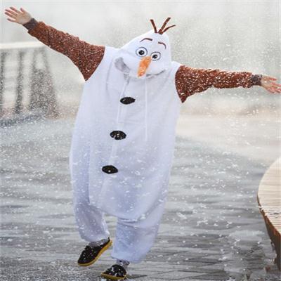Unisex Animal Jumpsuit Anime Olaf Adult Snowman Costume Pajamas Cosplay Jumpsuit Adult Onesie Pyjamas Romper Party Dress