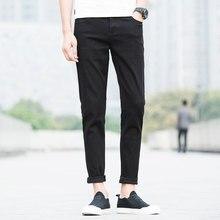 Новый черный случайные штаны мужчины марка одежда летние тонкие брюки мужчины высокое качество стрейч дышащий pants2017