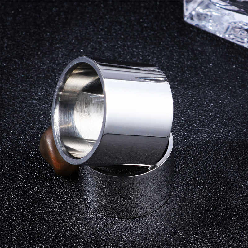 Linght Polish 14MM 18MM Titanium Ring for Men Women Couple Ring