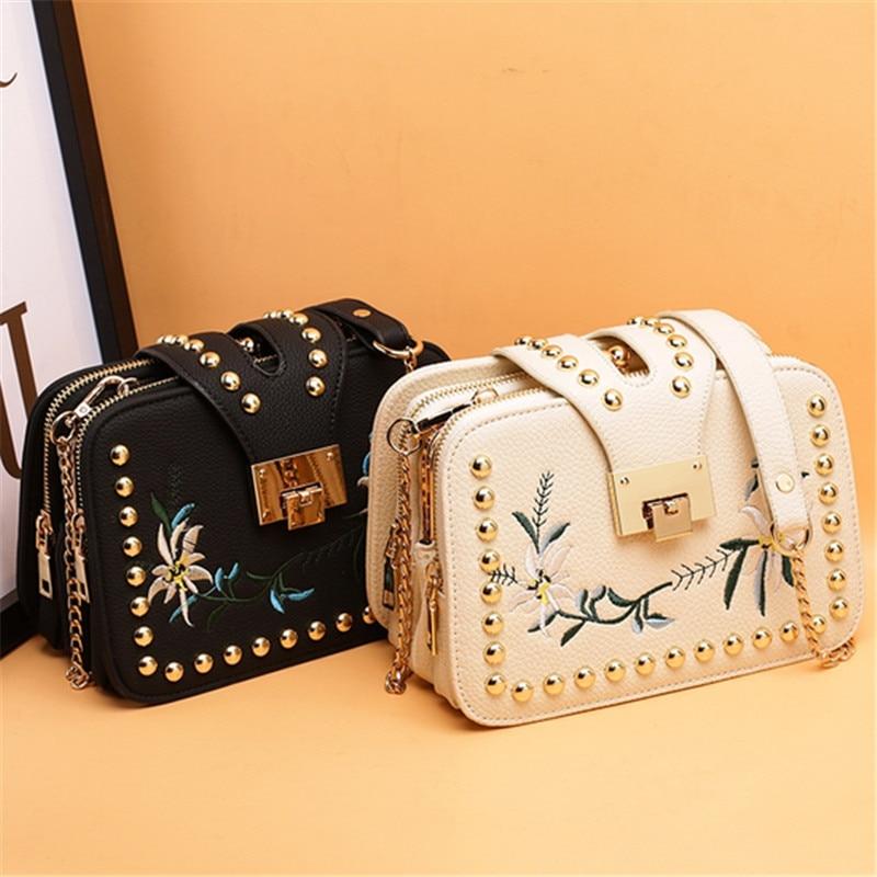 Kavard mujeres bolsas de mensajero del diseñador de la pu de cuero de las mujere