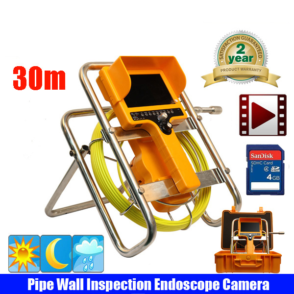 30m CCTV factory underground pipe sewer camera for sewage pipe,drain pipe inspection with meter counter free shipping by DHL dvr keyboard control box for underground pipe inspection camera