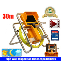 30m CCTV factory underground pipe sewer camera for sewage pipe,drain pipe inspection with meter counter free shipping by DHL
