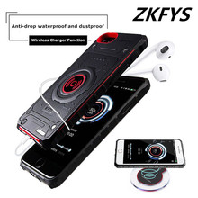 ZKFYS Wireless Charging Power Bank For iPhone 6 6s 7 8 Case 3100mAh Battery Charger