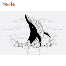 Yeele Wallpaper Photocall Whale King Of The Sea Photography Backdrops Personalized Photographic Backgrounds For Photo Studio