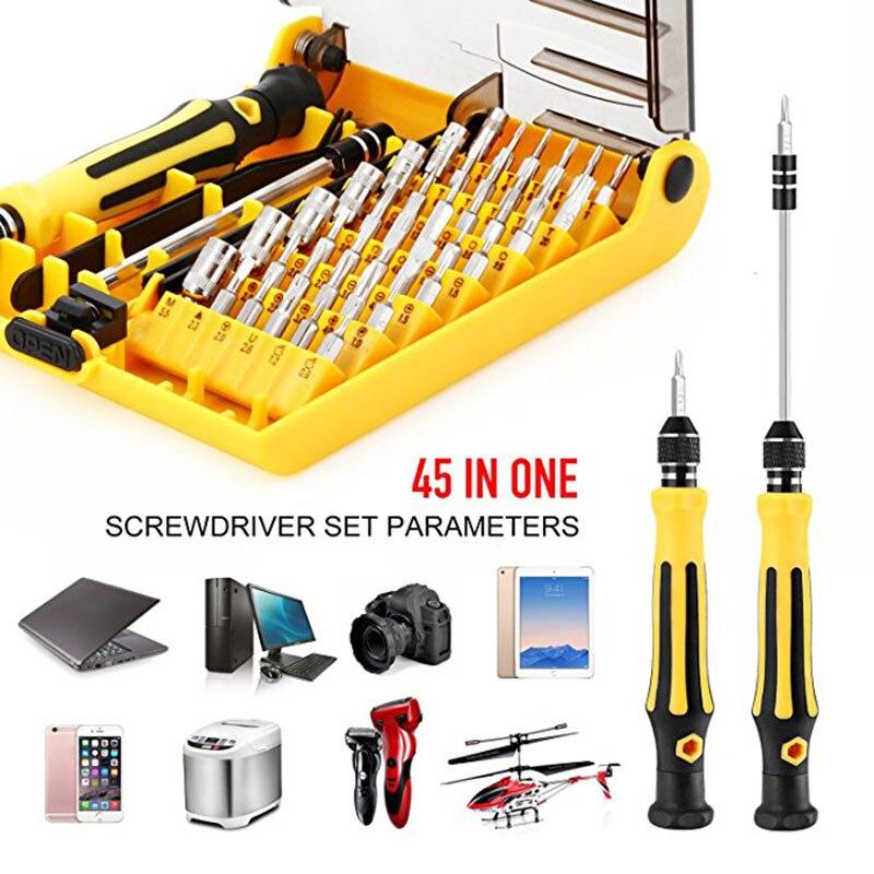 45 pz multi-funzione set di cacciaviti Notebook bicchieri di telefonia mobile di riparazione e strumento di smontaggio strumenti hardware cacciavite