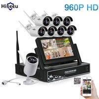 7 Inch Displayer 8CH 960P Wireless CCTV System Wireless NVR IP Camera IR CUT Bullet Home