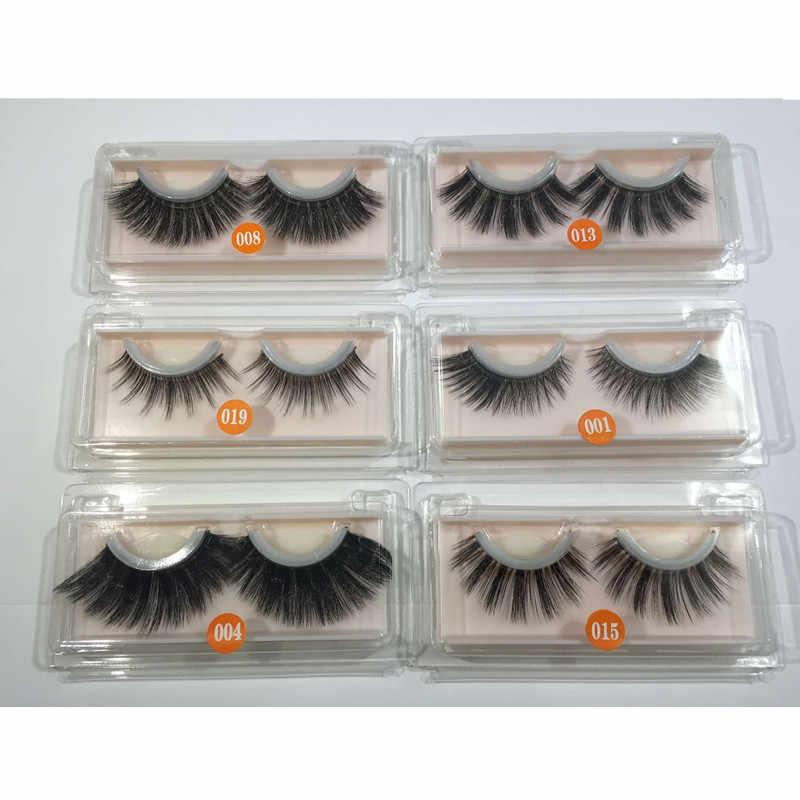59b2714fbf5 3D Silk Self Adhesive False Eyelashes Natural Quick Wear Lashes Reusable  Thick Volum Mink Hair Eyelash