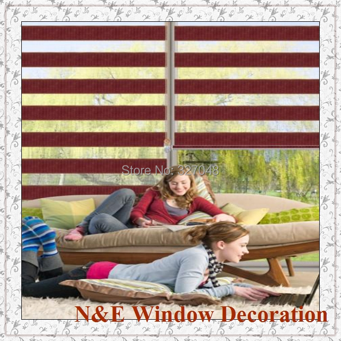 Free shipping Window blinds zebra roller blinds shades and window curtain for living room