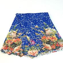 Nueva llegada del envío gratis telas africanas del cordón alta calidad multi color de cable de encaje tela de encaje guipur para mujeres se visten SML1641-c(China (Mainland))
