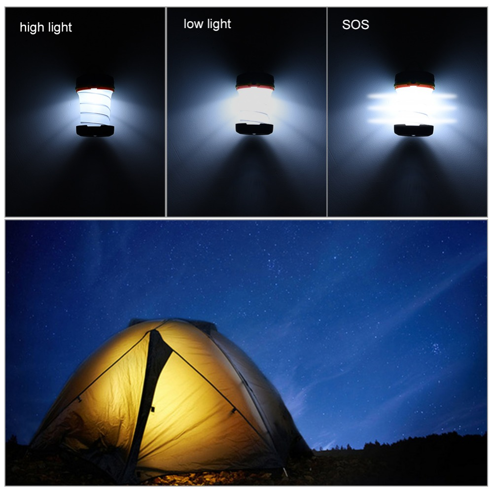 Rechargeable 1W LED Solar Camping Light Outdoor Lights LED Flashlight Portable Lantern Mini Power Tent Light USB Emergency Lamp