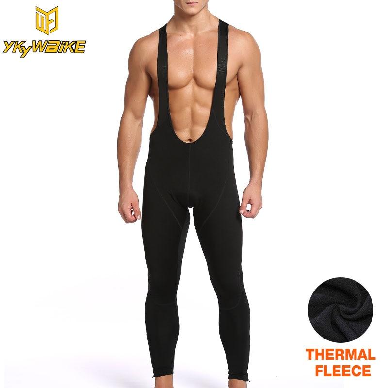 YKYWBIKE cycling pants men winter thermal fleece pantalon mtb pants long bike bib pants downhill pants pantalon ciclismo hombre
