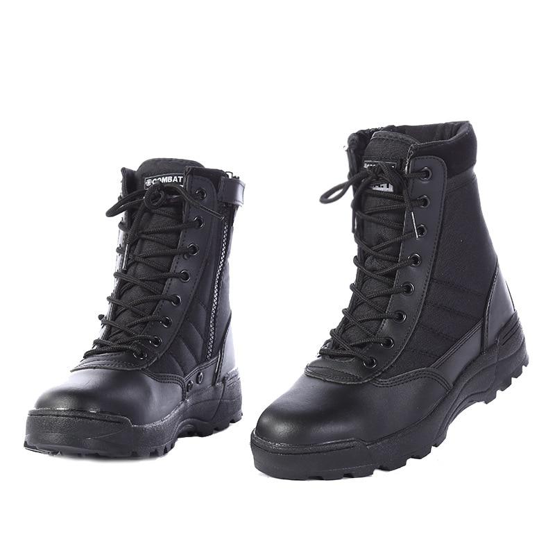Зимняя обувь для мужчин дезерты сапоги в стиле милитари для мужчин s работы спортивные туфли SWAT армейские ботинки Zapatos ботильоны на шнуровке...
