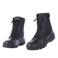 Winter Shoes Men Desert Boots Military Boots Mens Work Safty Shoes SWAT Army Boot Zapatos Ankle Lace-up Side Zipper Combat Boots стоимость