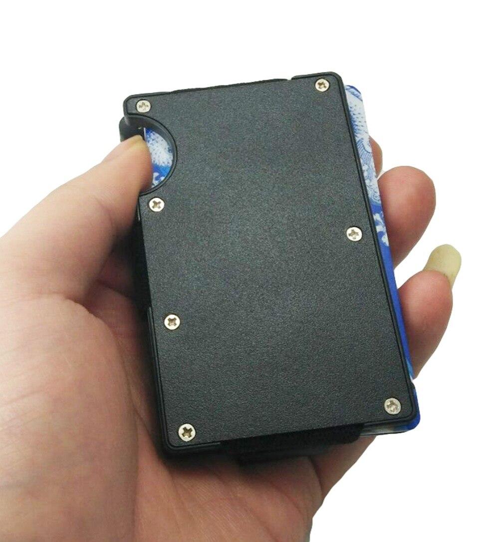 Artmi Mens Slim Money Clip Ljus Namn Hållare Aluminium RFID - Plånböcker - Foto 3
