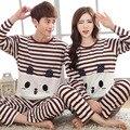 Os Amantes da primavera Outono pijama Encantador Dos Desenhos Animados pijamas para Homem e mulher calças de algodão casal Casa desgaste