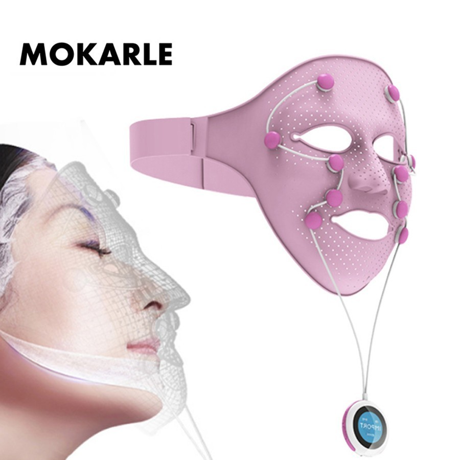 Smart Facial Mask Magnetic Massage face lift Anti Wrinkle mask Machine Firm Skin Facial Spa Acupressure