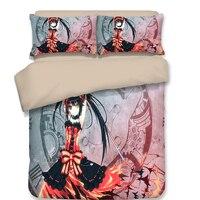 Tokisaki Kurumi 3D bedding set Duvet Covers Pillowcases Cartoon anime Nightmare comforter bedding sets bedclothes bed linen