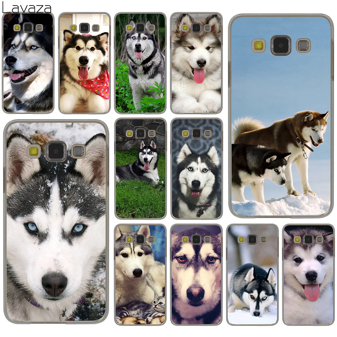 Lavaza Alaskan Malamute <font><b>Siberian</b></font> <font><b>husky</b></font> dog Hard Case for Samsung Galaxy S10 S10E S8 Plus S6 S7 Edge S9 Plus Phone Cover image