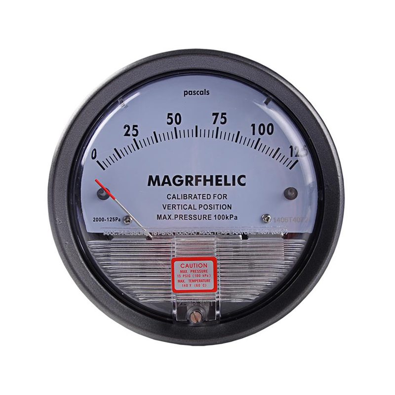 0-125PA Micro Differential Pressure Gauge High Precision 1/8