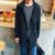 Moda Com Capuz Longo Trench Coat Para Homens Sólidos Casual Slim Fit Bolsos Longos Homens Jaqueta Outwear Blusão com Capuz Manteau