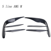 Car styling for Mercedes Benz GLC Class X253 Front Fog Light Lamp carbon fiber decoration Trim Covers Stickers Auto Accessories