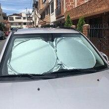 Frente del coche parabrisas trasero sombrilla cubierta reflectante parabrisas de coche sol sombra plegable sombrilla persiana UV parasol Protector