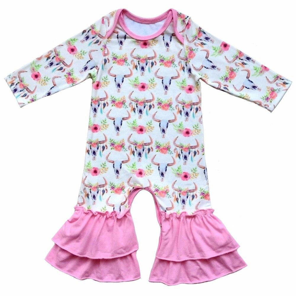 Vintage Newborn Baby Romper Baby Girl Long Sleeve Jumpsuit,Infant ...