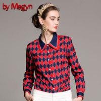 by Megyn 2019 summer women blouse блузка женская long sleeve print top and shirt plus size 3XL top brand shirts blusas