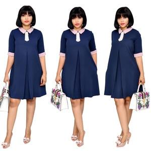 Image 2 - 4 rozmiary 2019 afrykańskie stroje dla kobiet z koraliki afryki perła szyfonowa sukienka Dashiki sukienka spódnica do kolan Africaine femme