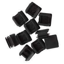 25mm x 25mm Plastic Square Tube Inserts End Blanking Caps Black 10 Pcs(China)