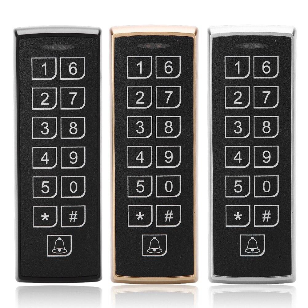 12 V Dc Rfid Tür Access Control System Wasserdichte Metall Tastatur 125 Khz Kontaktlose Rfid-karte Access Control Mit 1000 Benutzer SchöN In Farbe