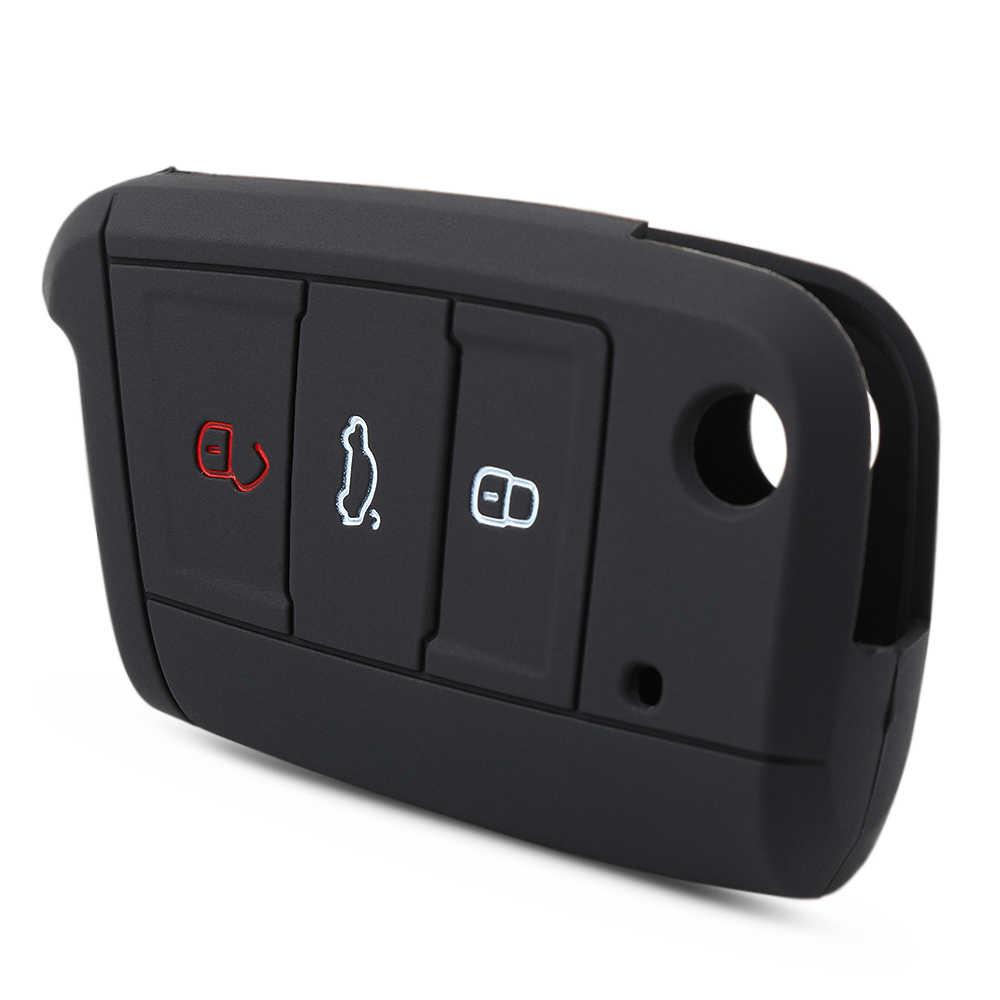 VCiiC etui na klucze futerał na klucze klucz obudowa do VW Golf mk7 nowy Polo Tiguan dla Skoda Octavia A7 klucz silikonowy Portect Case akcesoria samochodowe