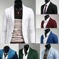 2014 la venta de la moda de primavera salvaje Color caramelo coreano con estilo Slim Fit hombres traje chaqueta Casual de negocios vestido Blazers