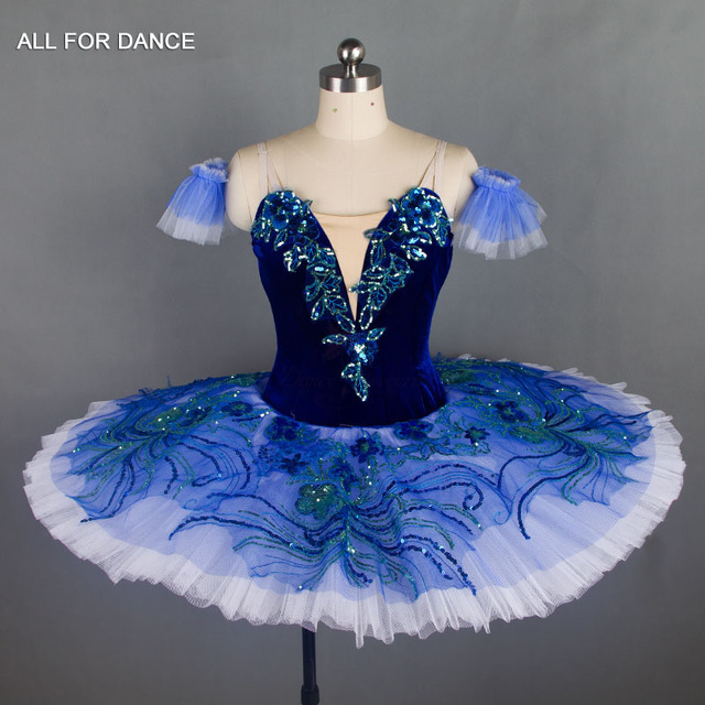 ed1c5ea9392f Royal Blue Velvet Bodice with Rich Decoration Professional Ballet ...