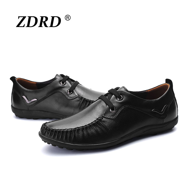 ФОТО 2017 New Arrival Men's 100% Genuine Leather Handmade Driving Shoes,New Business Men Oxfords,Brand Design Flats Loafers For Men