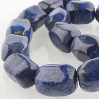 """Natural Dyed Lapis Lazuli Black /Red/Grey Bead Strands, Faceted Cuboid, 20x15x15mm, hole: 1mm; about 19pcs/strand, 15.55"""""""