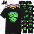 KHL Team Logo Print Men T Shirt Kontinental Hockey League jersey Glowed Tshirt