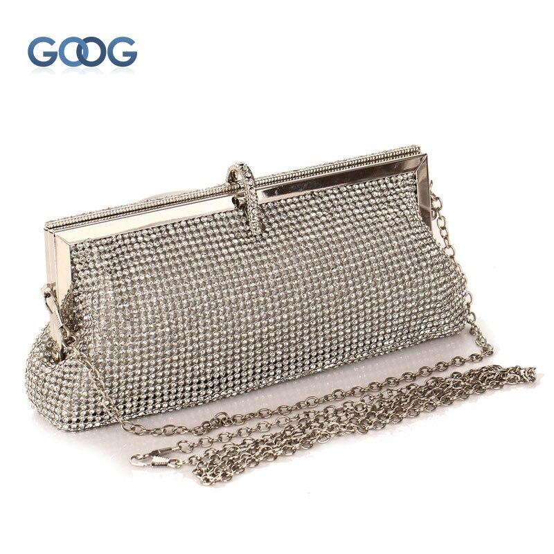 Designer Handtassen Hoge Kwaliteit Nieuwe Eenvoudige Metalen Frame Avondtassen Luxe Exquisite Diamant Diner Zal Charmante Nobele Hand Tas