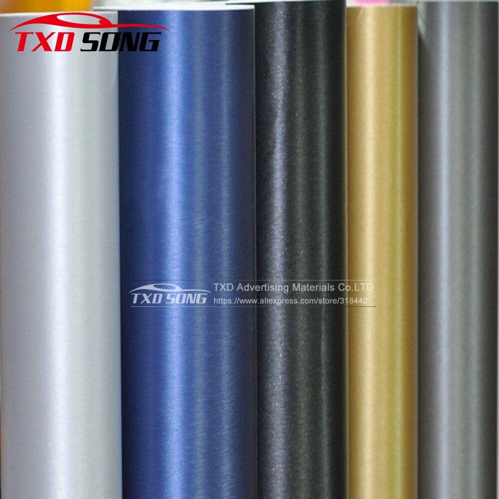 5 m/10 m/15 m/20 m/30 m/Pour Choix Prime En Aluminium Brossé vinyle De Voiture Wrap Voiture Moto Scooter Ordinateur Stickers Autocollant Film