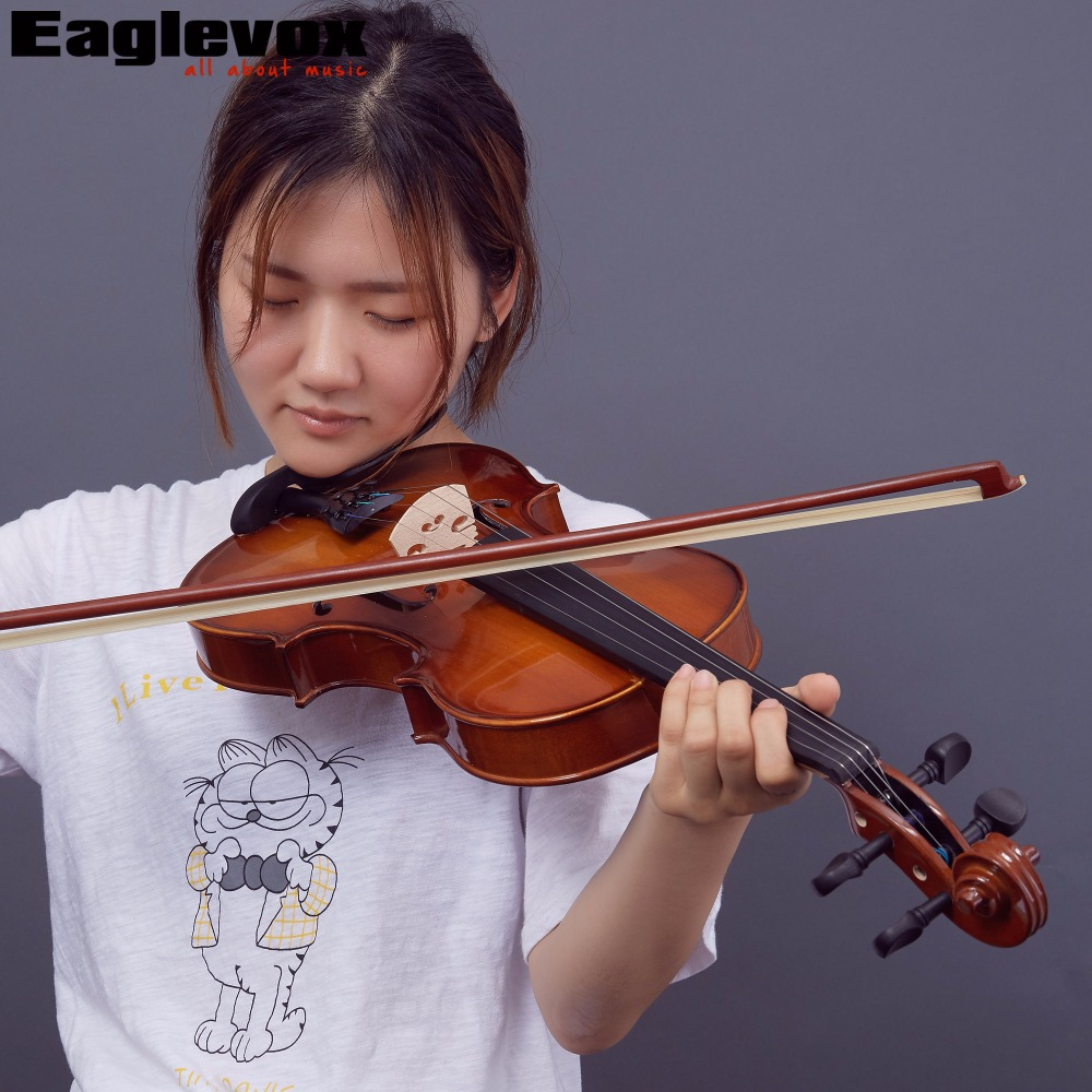 1/8 Violin Pinus Bungeana Top with Lightweight  Hard Case Maple Back and Sides cc handisyde handisyde everyday details pr only t